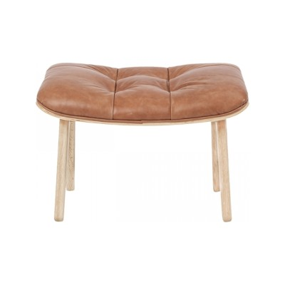 Mammoth Ottoman Vintage Leather - Cognac