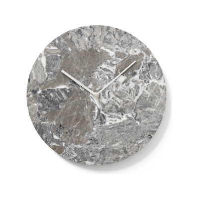 Marble Wall Clock Grey