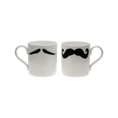 Maurice Poirot Moustache Mug Black