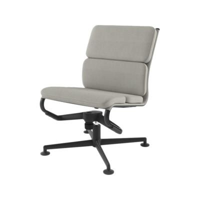 Meetingframe Lounge Chair 52 soft Leather Pelle Frau Color System - B020, Chromed Aluminium - CRN