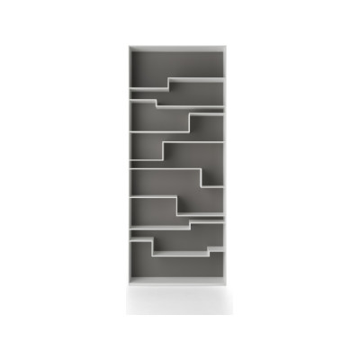 Melody Bookshelf, Contrast Back White Frame & Medium Grey Back