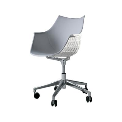 Meridiana Chair on Soft Castors Upholstered Tigri - Arancione 5360