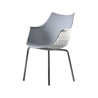 Meridiana Chair Upholstered Chrome, Tigri - Arancione 5360
