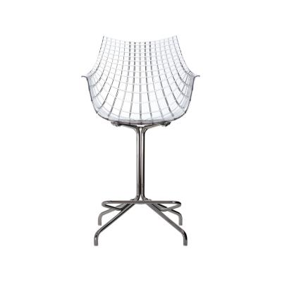 Meridiana Swivel Low Stool Matt Black, White