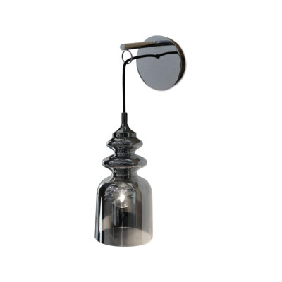 Messalina Wall Lamp Satin bronze, Diffusing bronzed glass