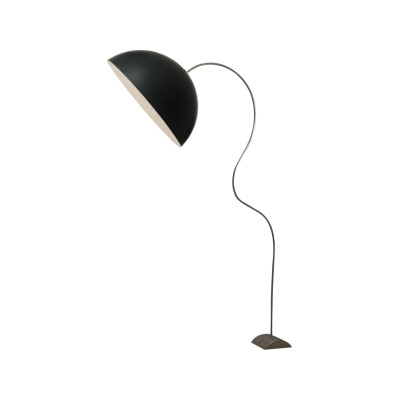Mezza Luna Piantana Floor Lamp Black, Silver