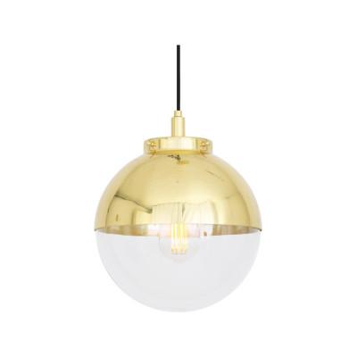 Mica Pendant Light Natural Brass