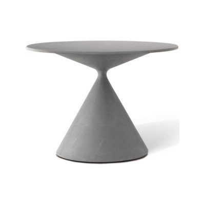 Mini Clay 703 Side Table with Ceramic Top - Outdoor B62 Matt White, D89 Grey Amber, 55, 75