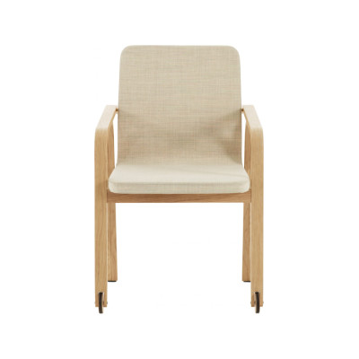 Mino Armchair with Wheels Beech Natural Lacquer, Elmo Nordic 00105