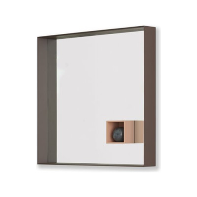 Mir 723 Square Wall Mirror B62 Matt White, B62 Matt White, LED on All Four Sides