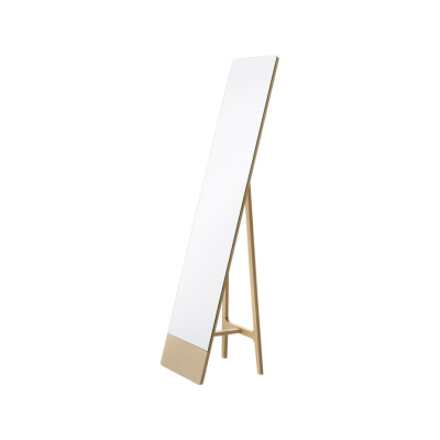 Mira Standing Mirror White Lacquer