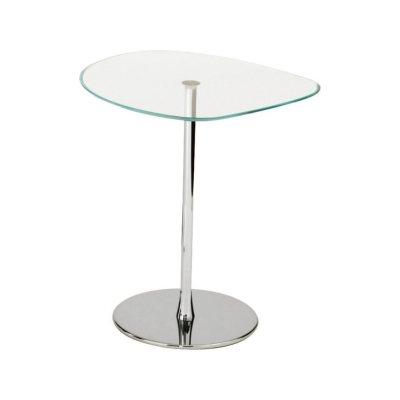 Mixit 291 Side Table with Glass Top A03 Chrome, E07 Transparent Blue, 42cm