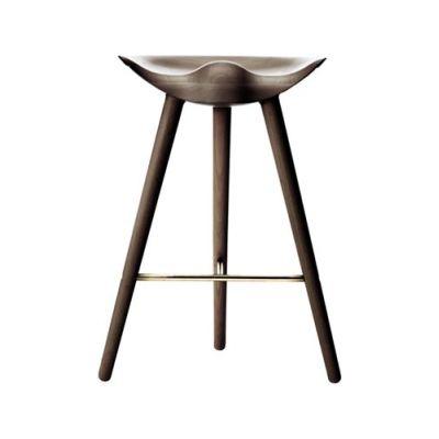 ML42 Counter Stool Brown Oiled Oak / Brass