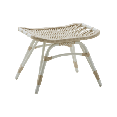 Monet Outdoor Foot Stool Set of 2 Dove White