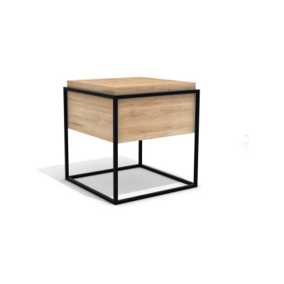 Monolit Side Table Black, Medium