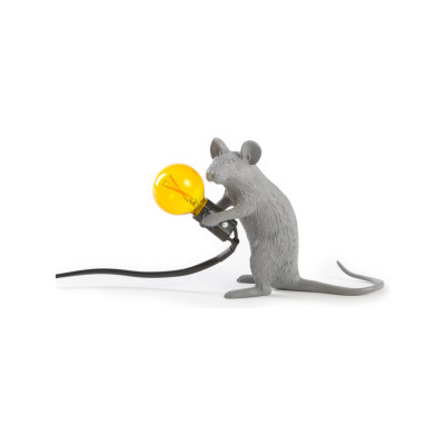 Mouse Lamp (Set of 2) Grey - Sitting