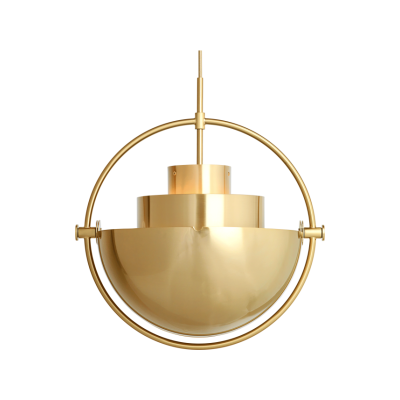 Multi-Lite Pendant Light All Brass