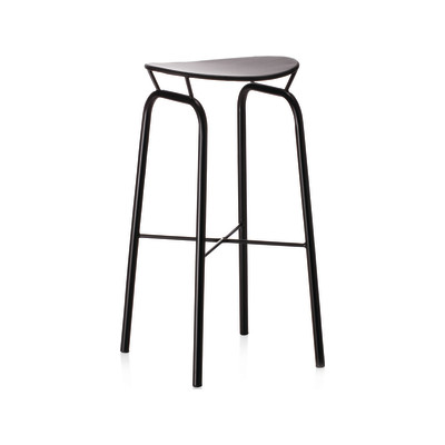 Nagasaki Bar Stool Gubi Metal Midnight Black