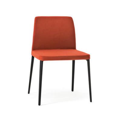 Nara Dining Chair B83 Champagne, Desalto Leather Ecopelle Grain R43 Ardesia
