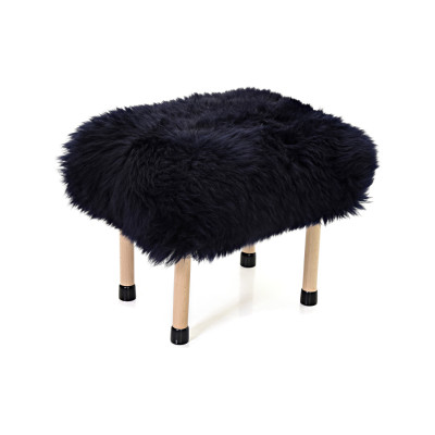 Nerys Sheepskin Footstool Navy