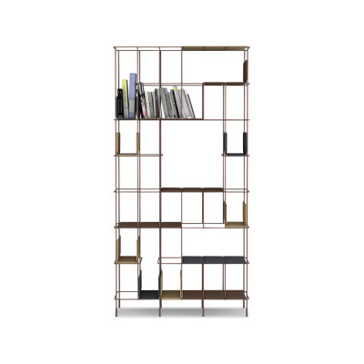 Network Bookshelf anthracite, A2588 - Extrema/AU 1250 brown