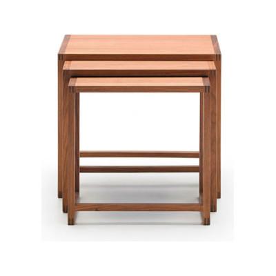 Nido Tables, Set of 3 Super-Matt Walnut