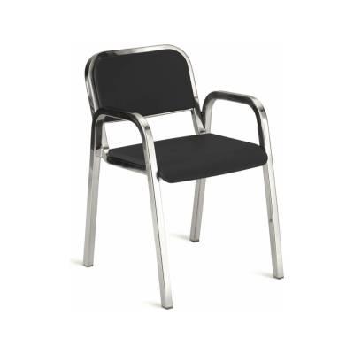 Nine-O Stacking Armchair Gray, Polished, Soft