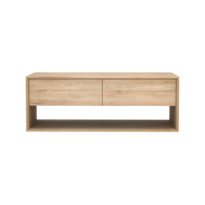 Nordic TV Cupboard Oak, 120 x 46 x 45 cm