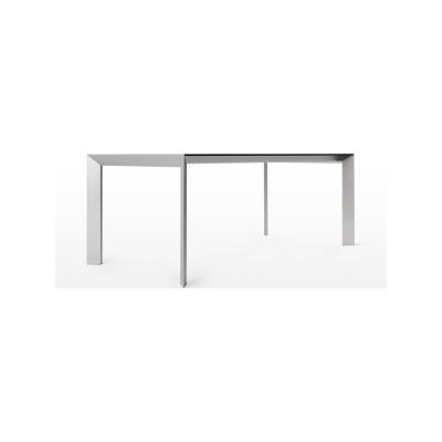 Nori Alucompact® - Pure-white Fixed - Depth 80 cm 289 cm, White, Lacquered Aluminium