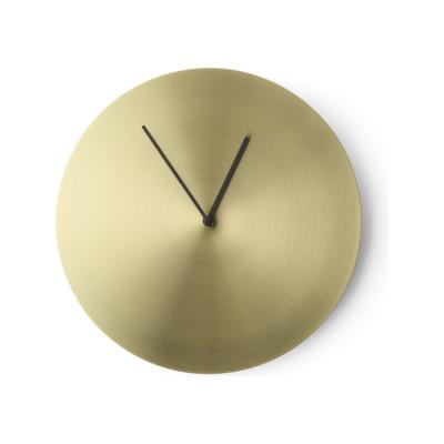 Norm Wall Clock Bronzed Brass