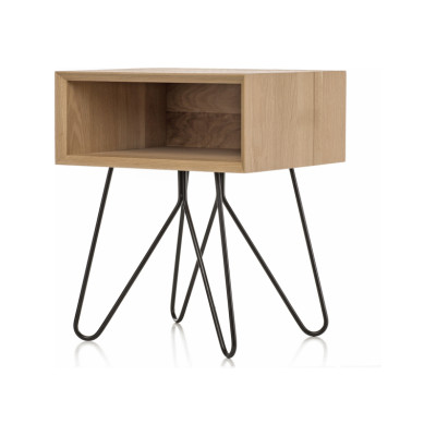 Nove side table  black legs