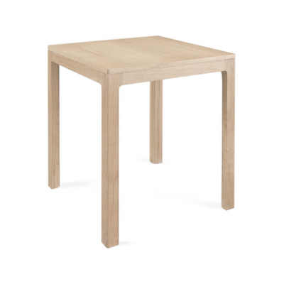 Nuda Square Table 80, Walnut Natural, Calacatta Marble