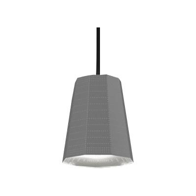 Null Vector Beta Pendant Light Aluminium Grey