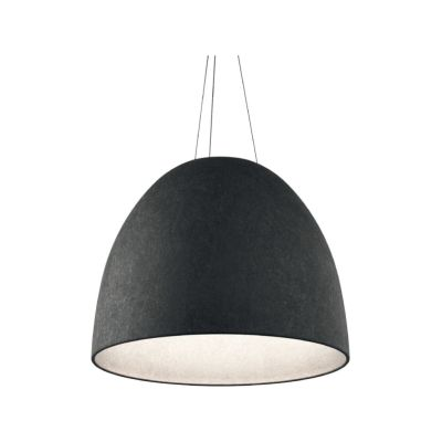 Nur Acoustic Pendant Light White/dark Grey