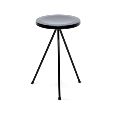 Nuta Stool Outdoor, Black Frame and Seat
