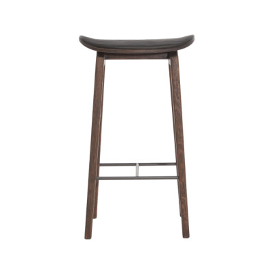 NY11 Bar Chair, Leather Walnut, Low