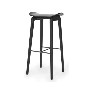 NY11 Bar Stool Oak Black, Low
