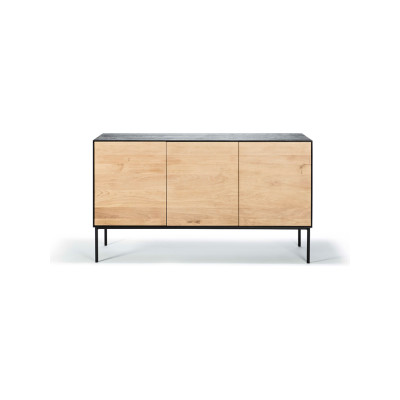 Oak Sideboard with 3 Doors Blackbird