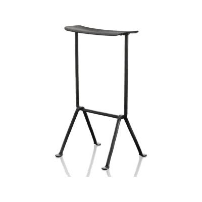 Officina Bar Stool Grey Anthracite 5142, Black Plywood, 65 cm