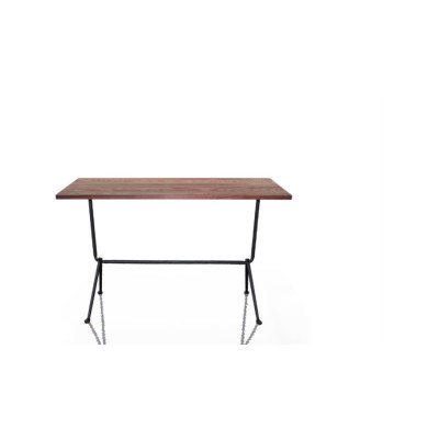 Officina Bistrot High Table Galvanized, Painted Black, 80cm