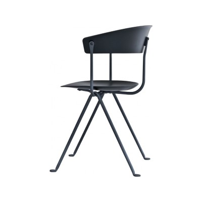 Officina Chair Grey Anthracite, Black, Beech Plywood