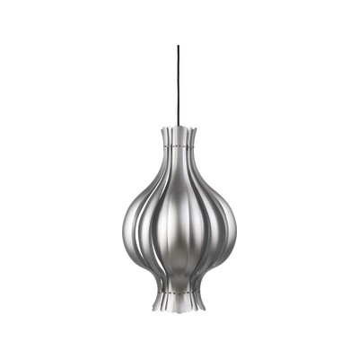 Onion Pendant Light Silver Lacquered