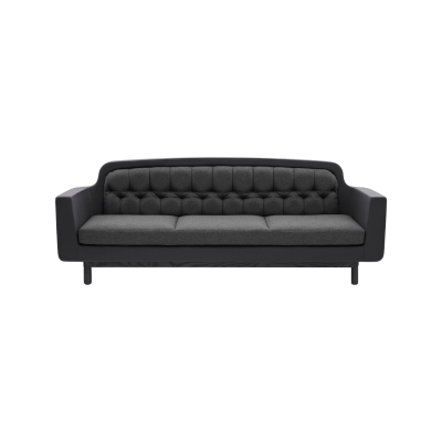 Onkel 3 Seater Sofa Dark Grey
