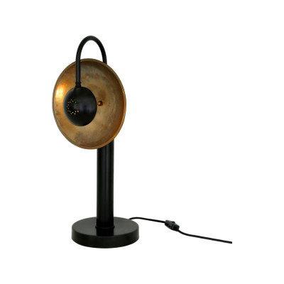 Orebro Table Lamp Satin Brass, UL Plug
