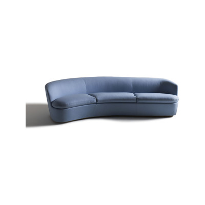 Orla Curved Sofa Pelle Extra Leather Extra 983, Right Hand