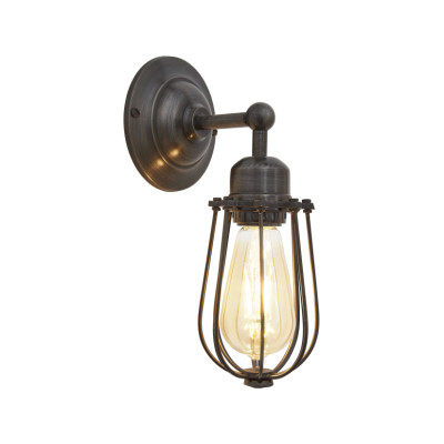 Orlando Wire Cage Wall Light Orlando Wire Cage Wall Light - 4 Inch - Pewter