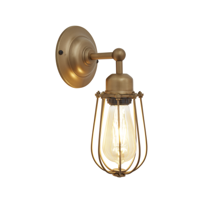 Orlando Wire Cage Wall Light Orlando Wire Cage Wall Light - 4 Inch - Brass