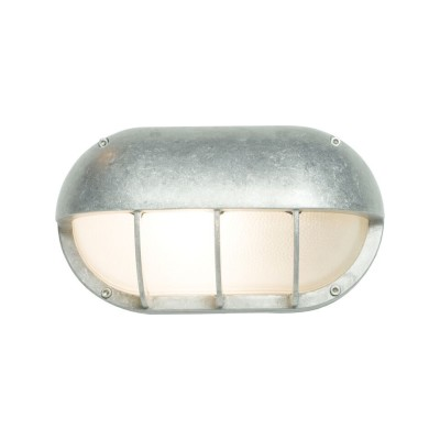 Oval Aluminium Bulkhead 8125 Standard E27