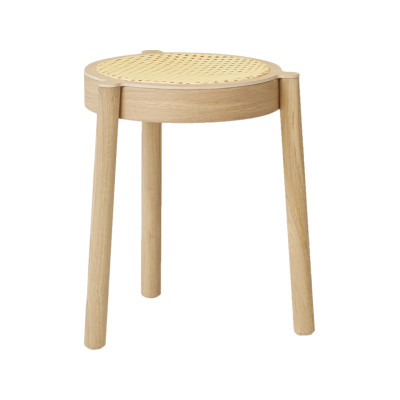 Pal Stool Light Oak, Cane Mesh