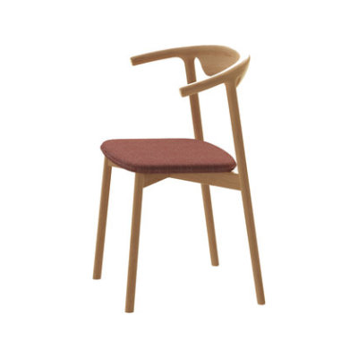Pala Dining Chair Walnut, Lana 007 Canary